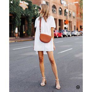 Madewell Small Courier Dress White Button Down Col